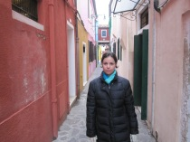 Stefanie Weisman in Venice (Burano, to be precise).